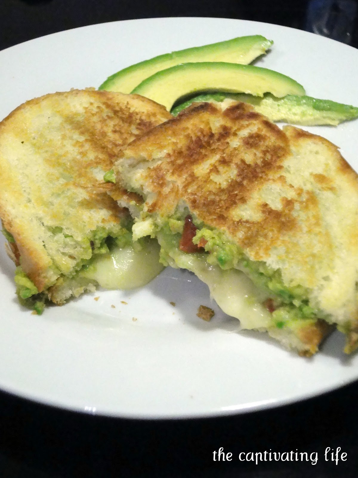 The Captivating Life: Guacamole Grilled Cheese Sandwiches