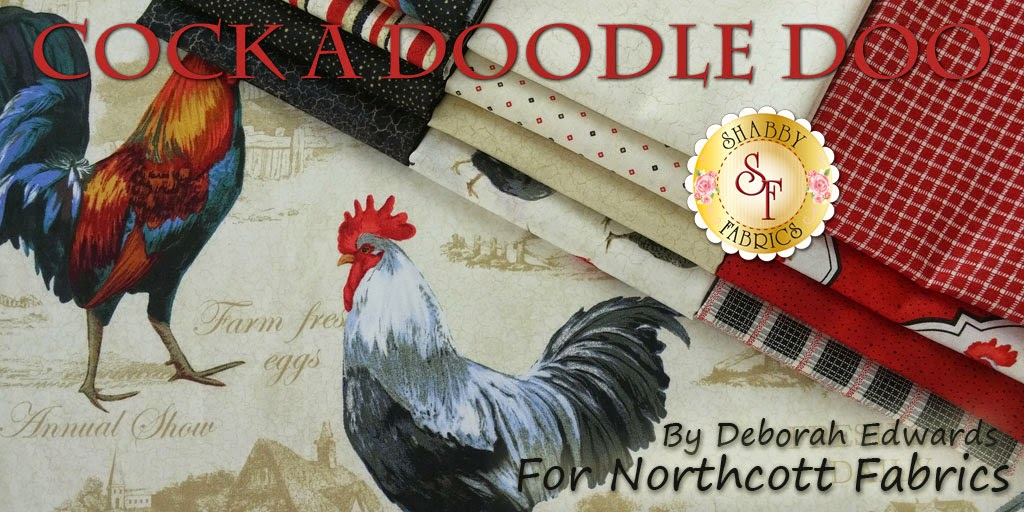 Cock a Doodle Doo by Deborah Edwards for Northcott Fabrics