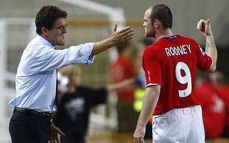Capello contra Rooney