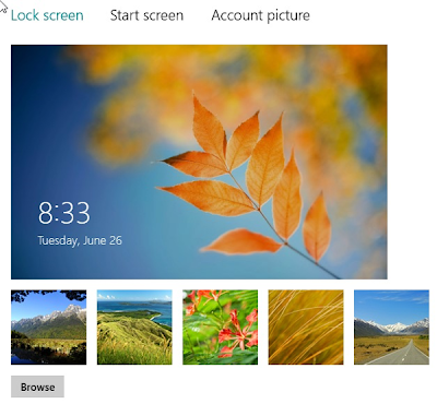 Change Lock Screen Image in Windows 8