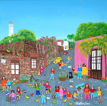 """""""Candombe en calle Solis""""Colonia del Sacramento Uruguay"""