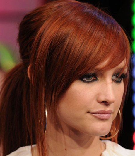 ashlee simpson red hair