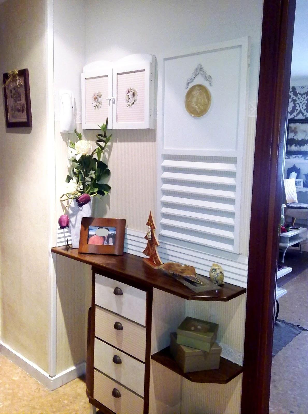 Decora tu vida diy cambio de decoraci n el recibidor - Muebles entradas de casa ...