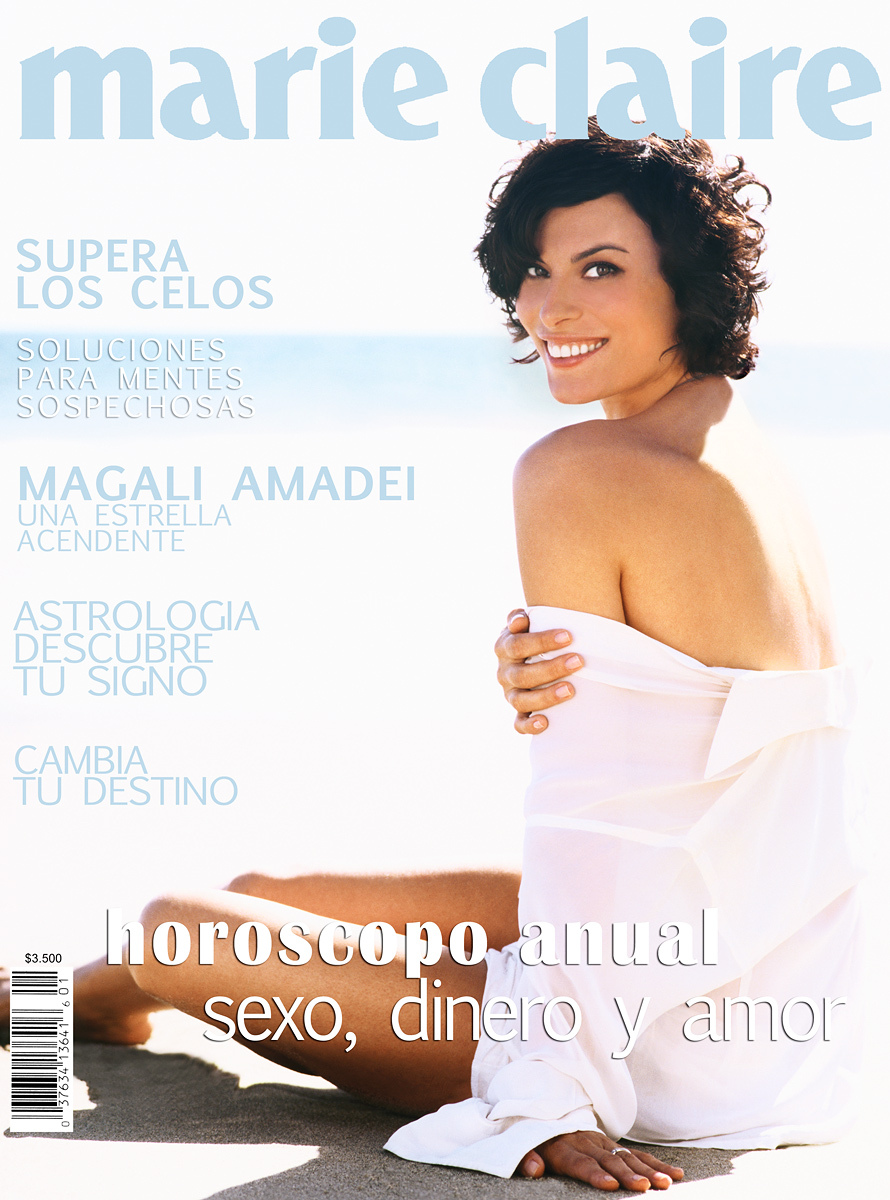 Magali Amadei on a cover of Marie Claire