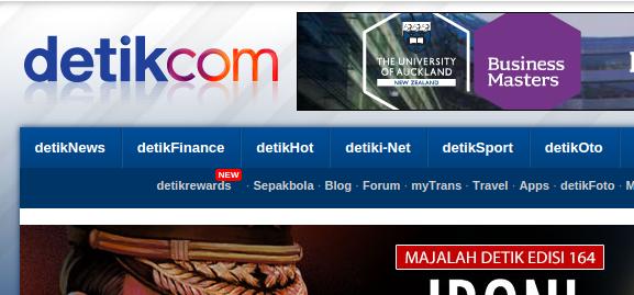 contoh tampilan website www.detik.com