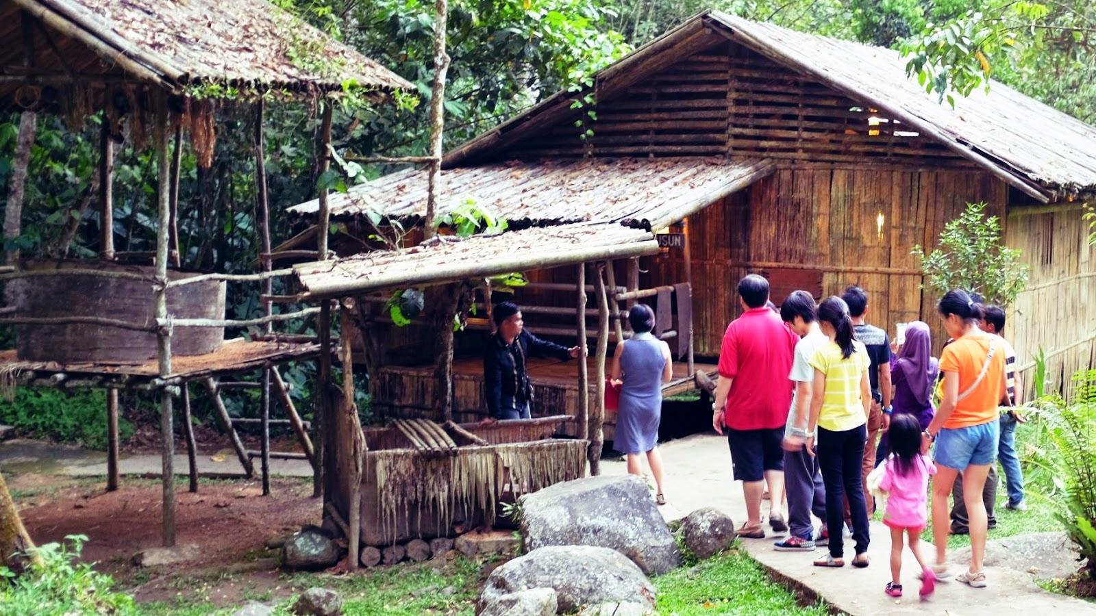 Dusun Long House at Mari Mari Cultural Village