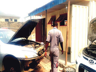 a motivational story on the Nigerian graduate who became a millionaire by repairing cars