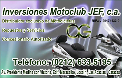 INVERSIONES MOTOCLUB JEF, C.A. en Paginas Amarillas tu guia Comercial