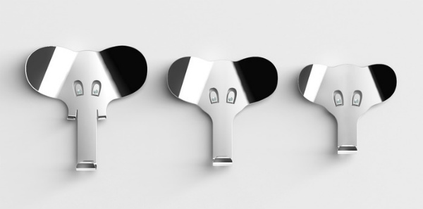 Epic Each elephant easily screws into your wall with the screws serving as their eyes Seeks funding at kickstarter