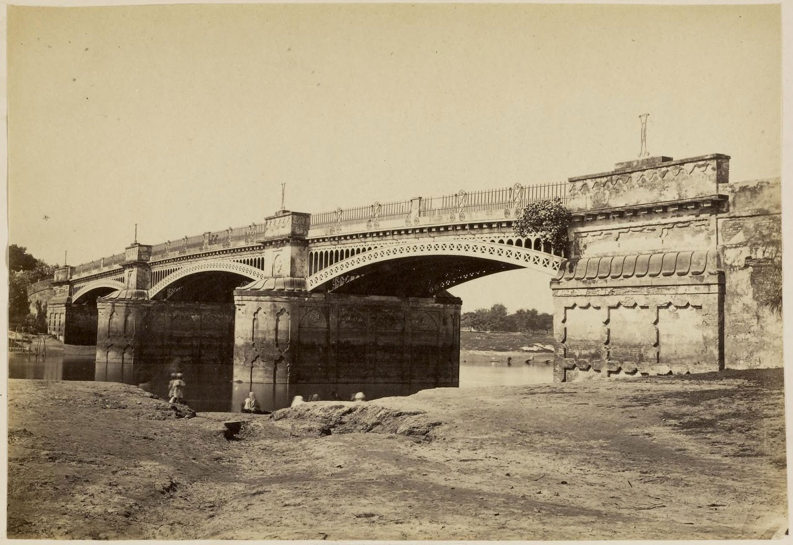 Iron Bridge Lucknow C1870 39 S Old Indian Photos