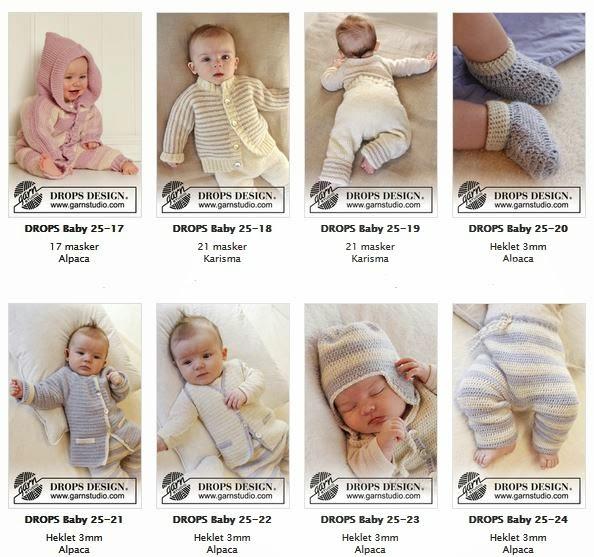 Gratis strikke og hekle oppskrifter til Baby