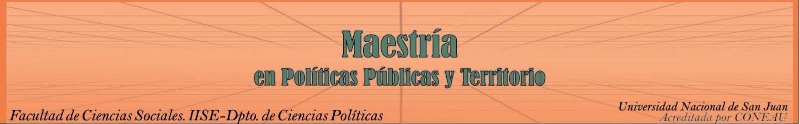 Territorio y Políticas Públicas