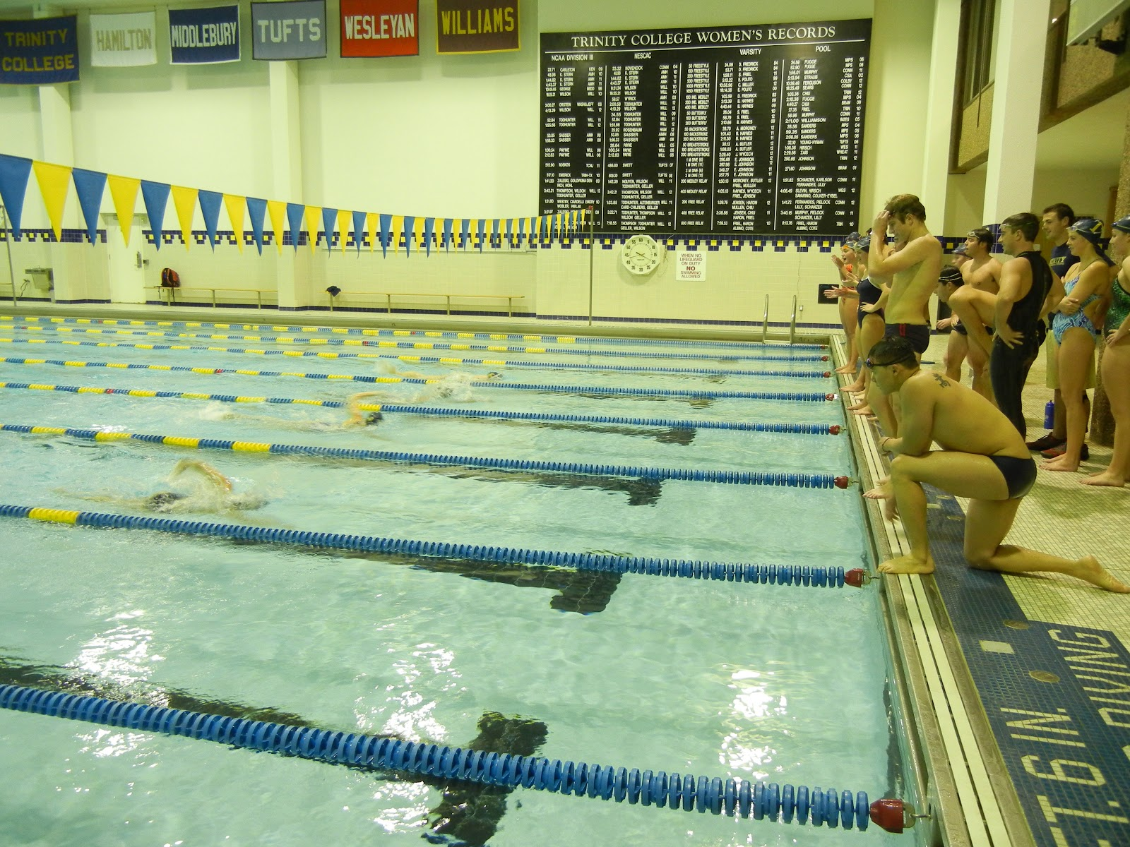 Trinity College Swimming Diving November 2012