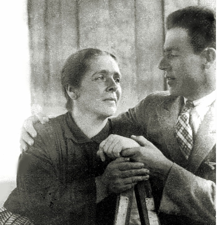 Maria del Carmen Ossa Tobón y su hijo Luis Ossa Ossa