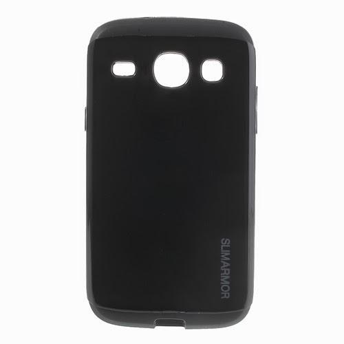 Slim Armor TPU & PC Hybrid Case for Samsung Galaxy Core I8260 I8262 - Black