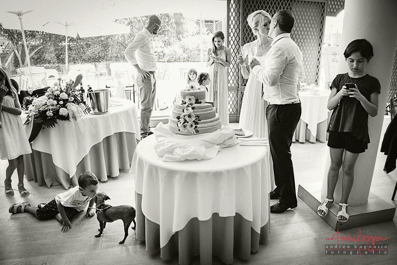 taglio della torta matrimonio Grand Hotel Arenzano