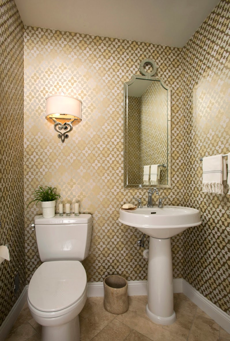What Is A Powder Room acanthus and acorn: client's new powder room revealed!