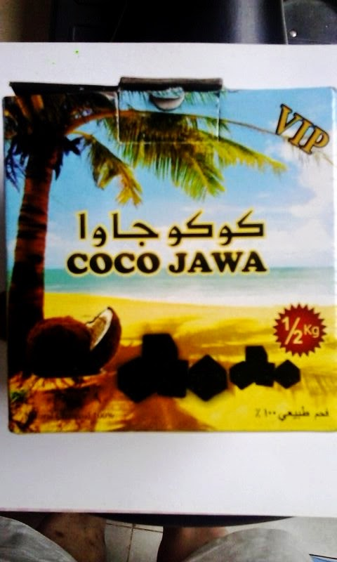 coconut shell charcoal briquette called coco Java