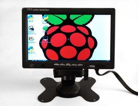 "7"" LCD Display with Composite input for Raspberry Pi"