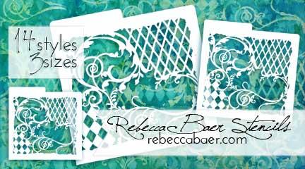 Rebecca Baer Collage Style Stencils