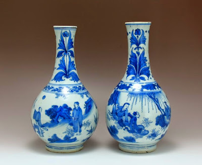 Pair Chinese Transitional vase manchester Mass collection
