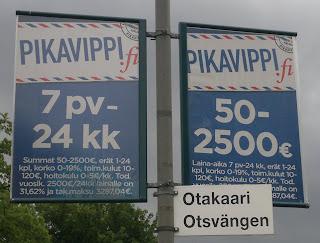Pikavippimainontaa Otaniemessä, 13.7.2011