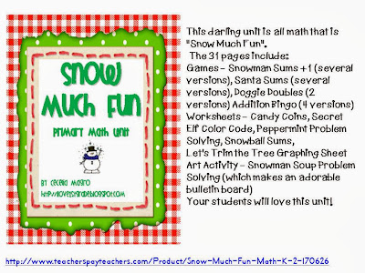 http://www.teacherspayteachers.com/Product/Snow-Much-Fun-Math-K-1-CCSS-Aligned-170626