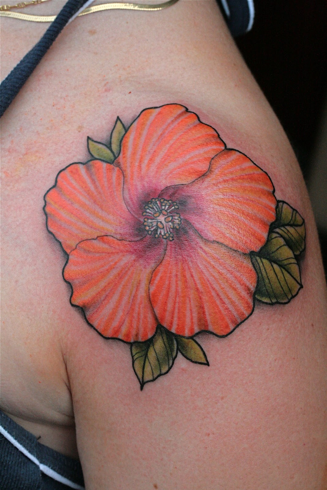 Purple Hibiscus Tattoo Topsimages