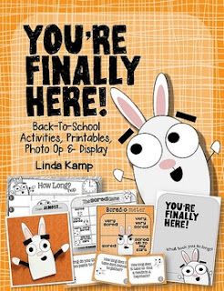 https://www.teacherspayteachers.com/Product/Youre-Finally-Here-First-Day-of-School-Activities-Printables-Bulletin-Board-1385006