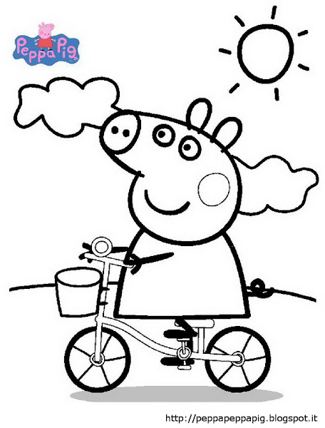 Peppa Pig Birthday Colouring Sheets