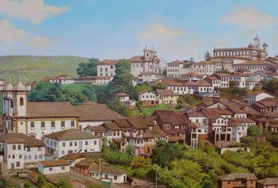 Cuadros con Pueblos Andinos Pintura