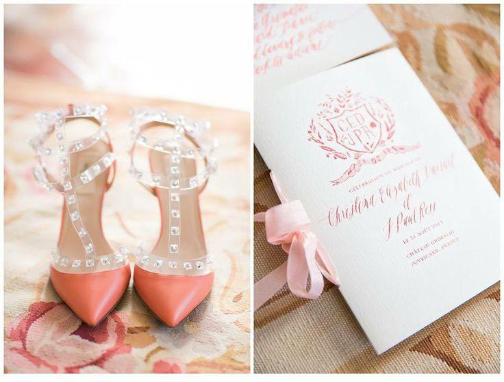 el diario de la novia: zapatos de novia de color coral - weddbook