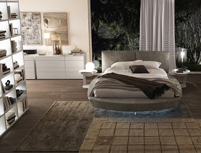 cuarto cama circular