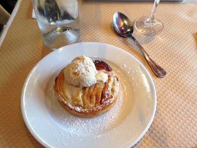 paris adventure diary apple pie and ice cream dessert food