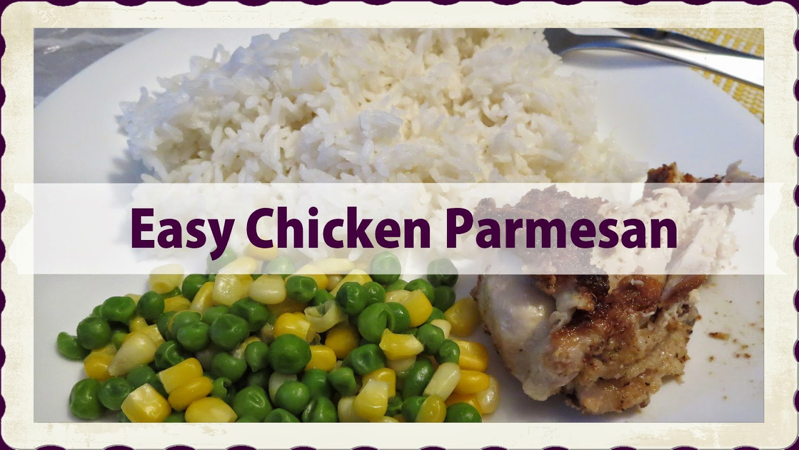Easy Chicken Parmesan (video included) #WhatsCookingWednesday