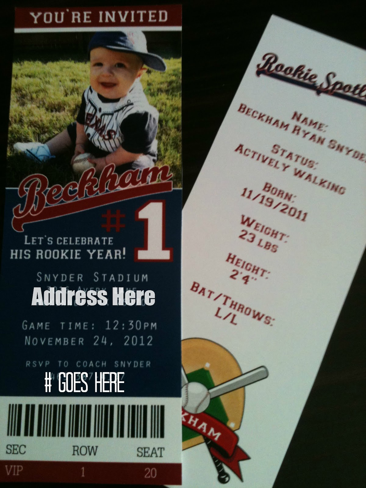 1st Birthday Baseball Theme Beckham Hits a HomeONE Joyfully
