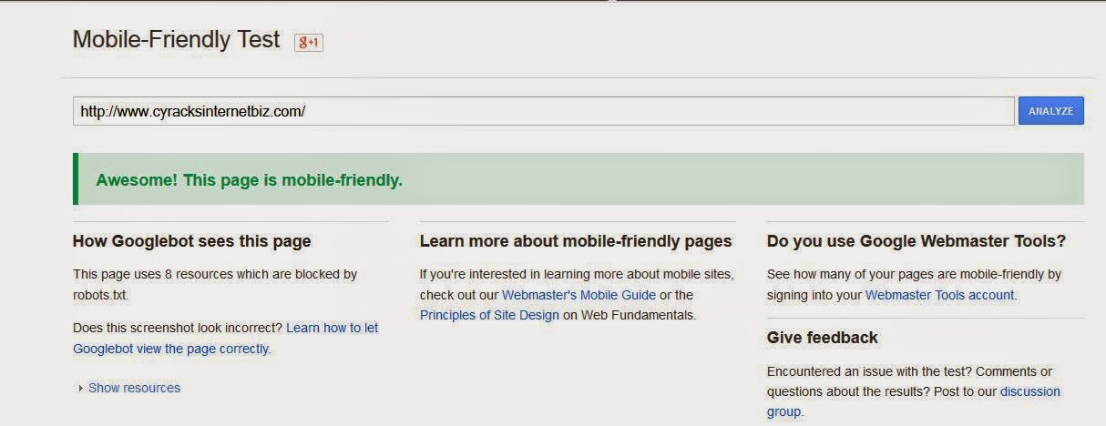 Google Mobile Friendly Test Tool | Check If Your Site is Mobile Friendly