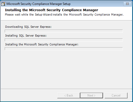 08 security compliance manager installation screen