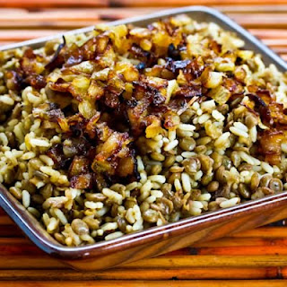 Mujadarra (Middle Eastern Lentils And Rice With Caramelized Onions) Recipe
