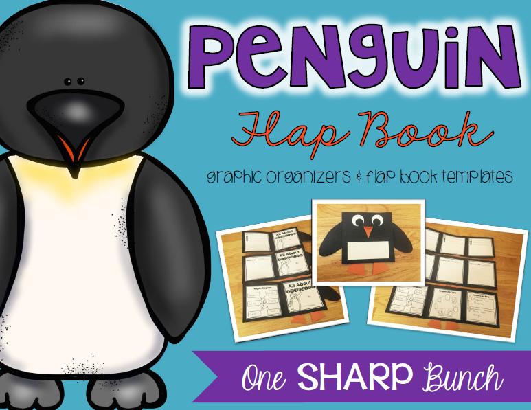 https://www.teacherspayteachers.com/Product/Penguin-Flap-Book-Graphic-Organizers-Flap-Book-Templates-1654551