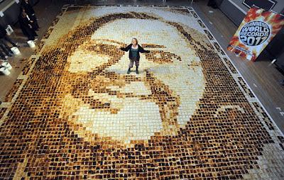 World's largest toast mosaic birthday card