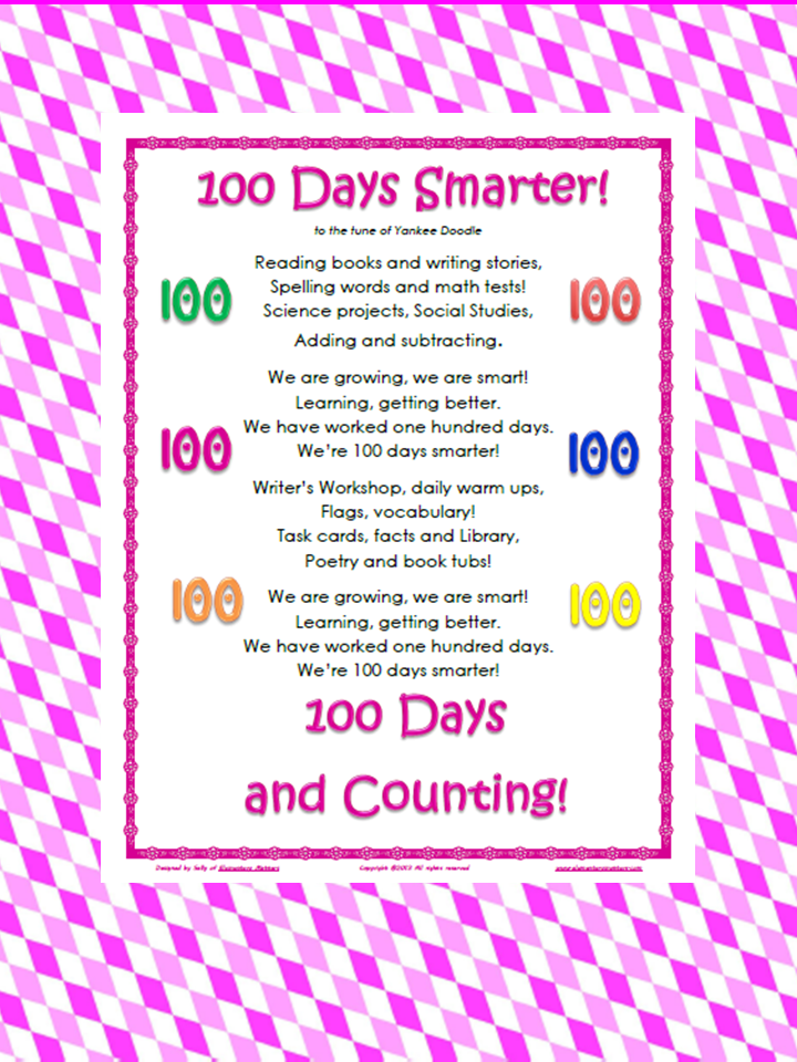 ... 100 songs click the image below for one of my songs 100 days smarter