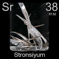 Stronsiyum Elementi Simgesi Sr