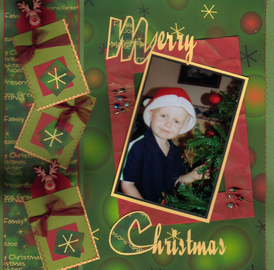 Christmas scrapbooking pages let 39 s celebrate - Scrapbooking idees pages ...