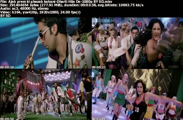 ajab prem ki ghazab kahani video songs 720p hd vs 1080p