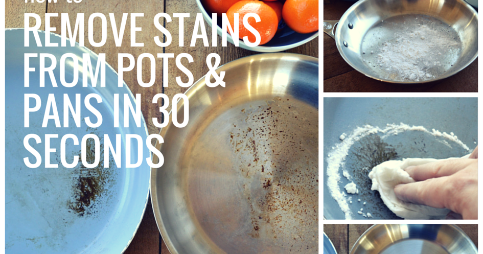 how to get stains off non stick pans