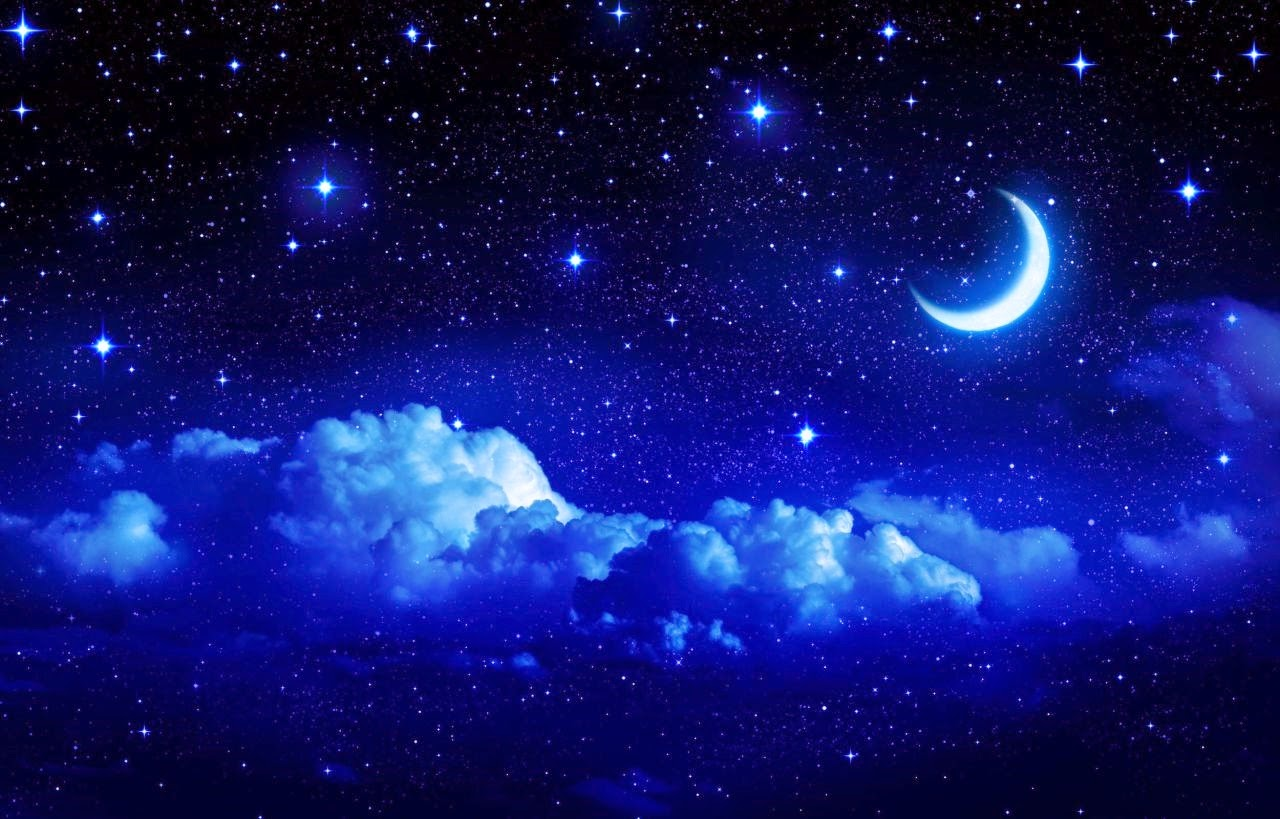 beauty night sky with moon important wallpapers