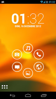 smart launcher orange screen