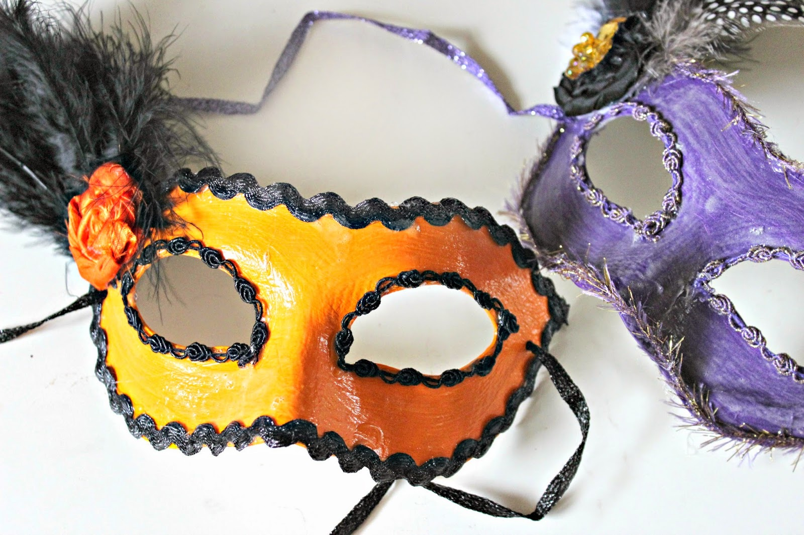 halloween masks mod podge craft