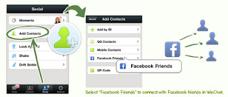 WeChat-Connect to Facebook friends